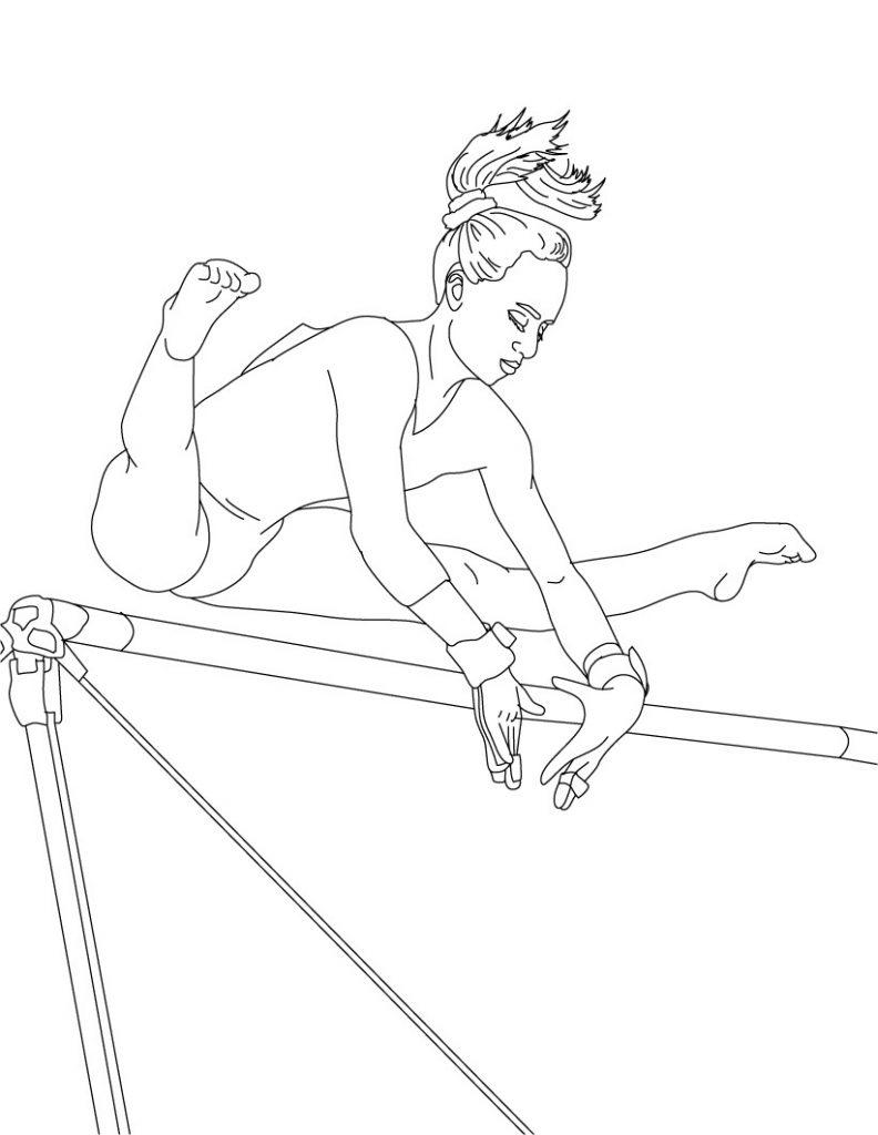Coloriage de gymnastique