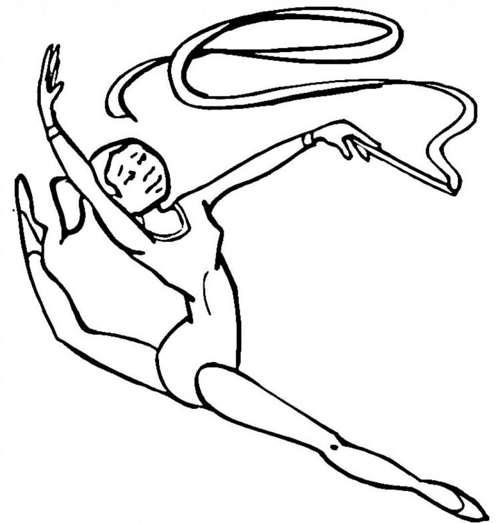 Coloriage gymnastique pour enfants