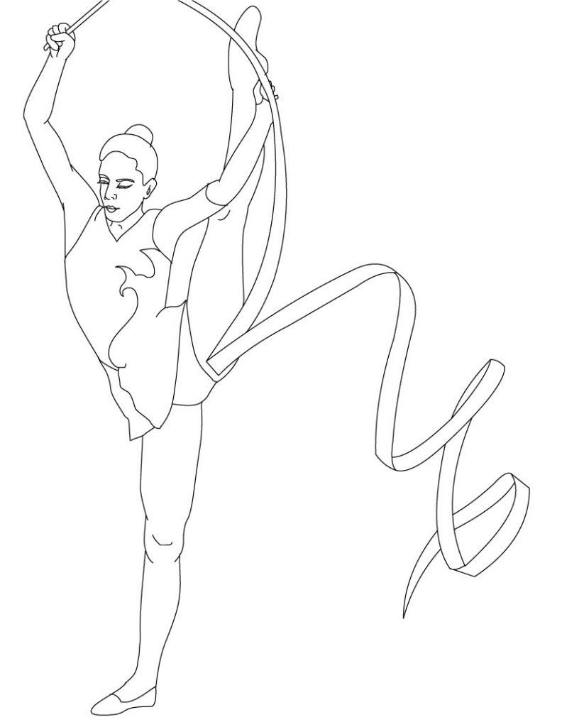 Coloriage de gymnastique à imprimer