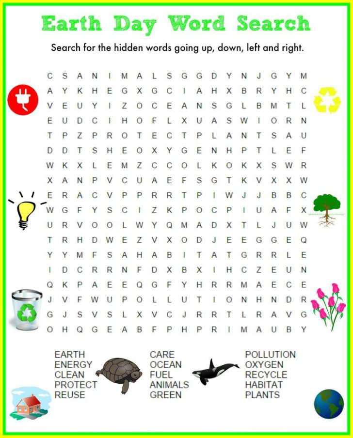 Imprimer Recherche de mot pour le Jour de la Terre
