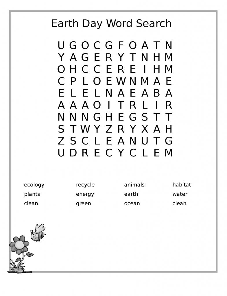Imprimables de recherche de mot du jour de la terre