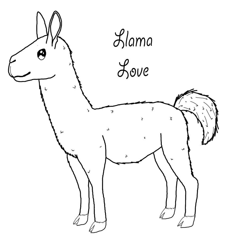 Coloriage Lama Love