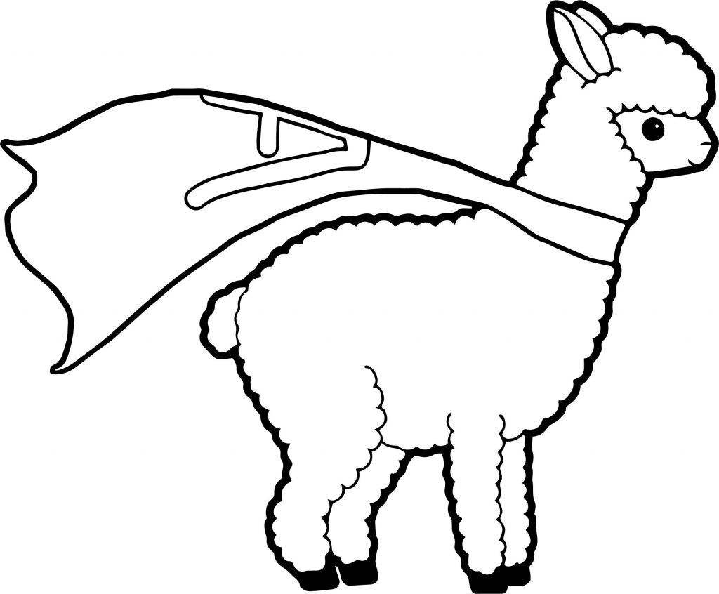 Coloriage Super Lama