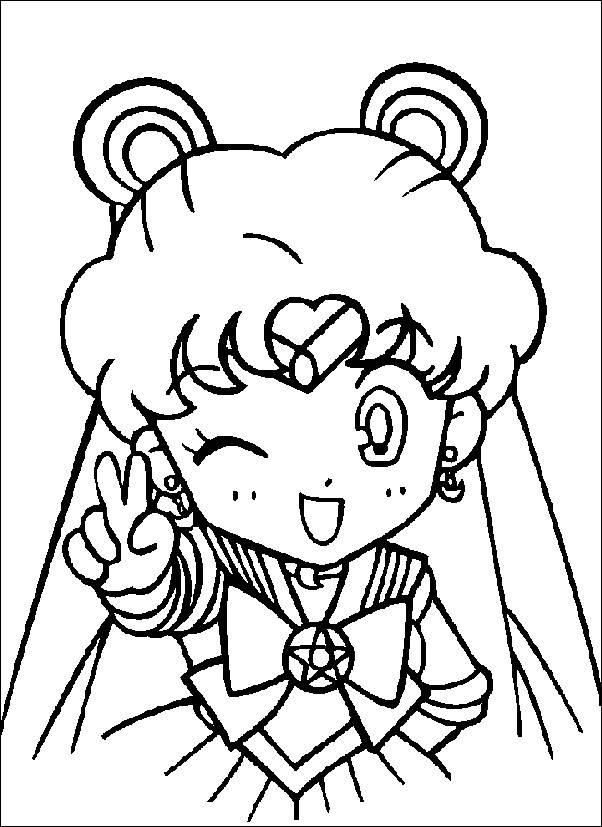 Coloriage de Sailor Moon