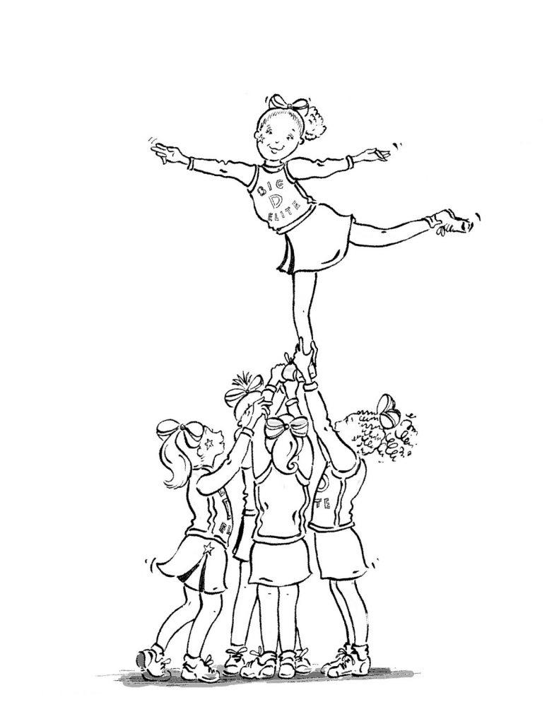 Coloriage Cheerleading