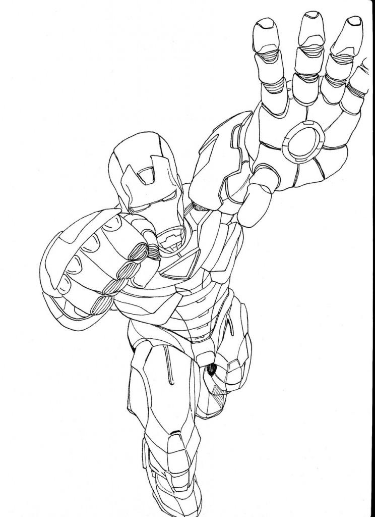 Coloriage Iron Man 2 à imprimer