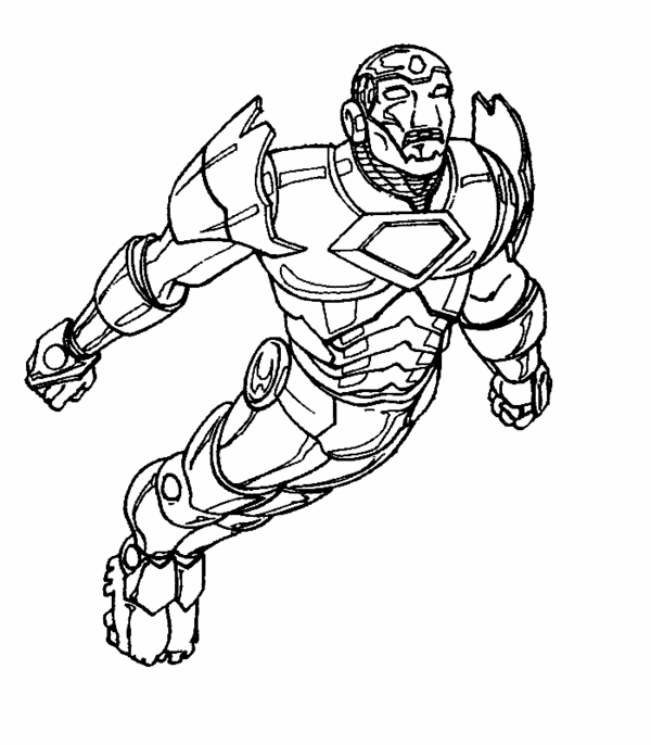 Iron Man à colorier