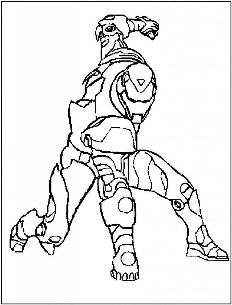Coloriage Iron Man pour les enfants