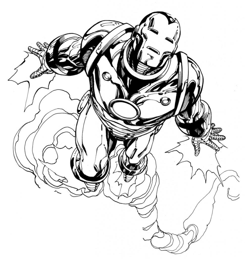 Coloriage Iron Man à imprimer