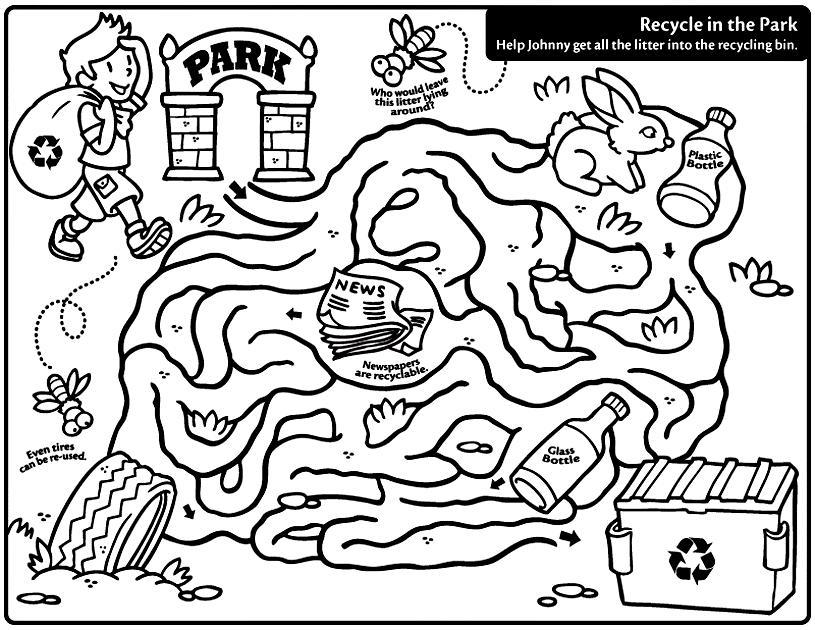 Feuilles de travail du labyrinthe du Jour de la Terre