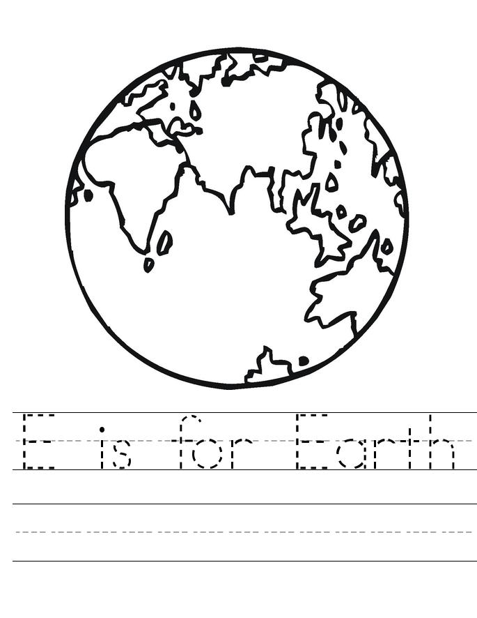 Feuille de travail de traçage du Jour de la Terre