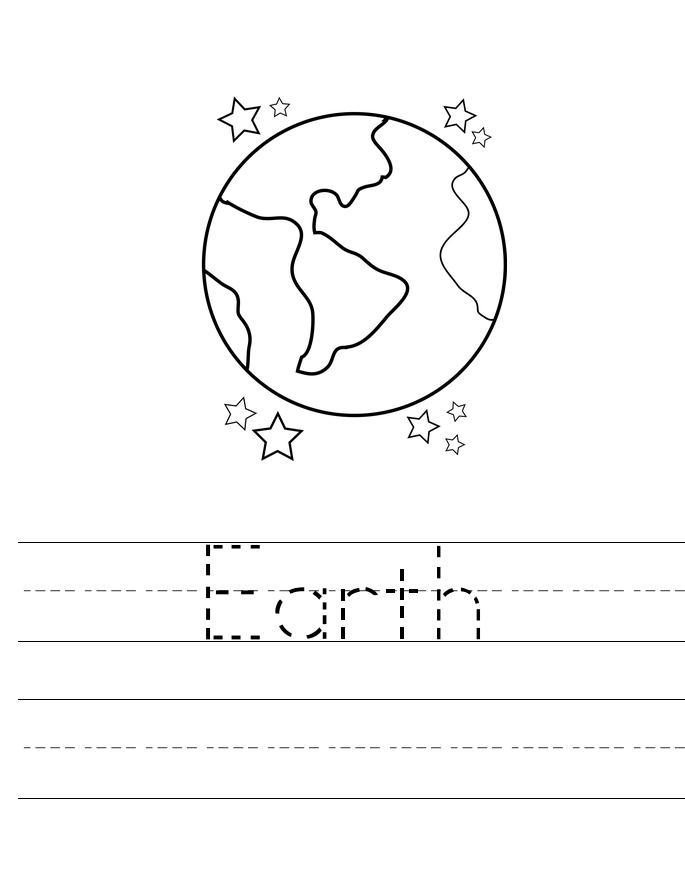 Feuille de travail de traçage de la Terre