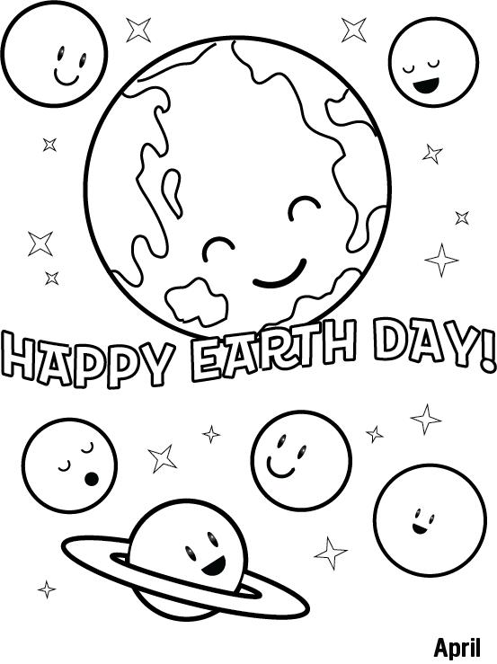 Coloriage de Happy Earth Day