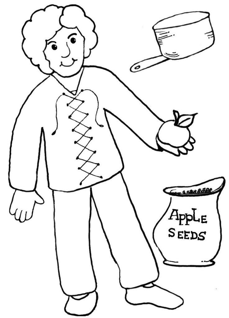 Coloriage de Johnny Appleseed gratuit