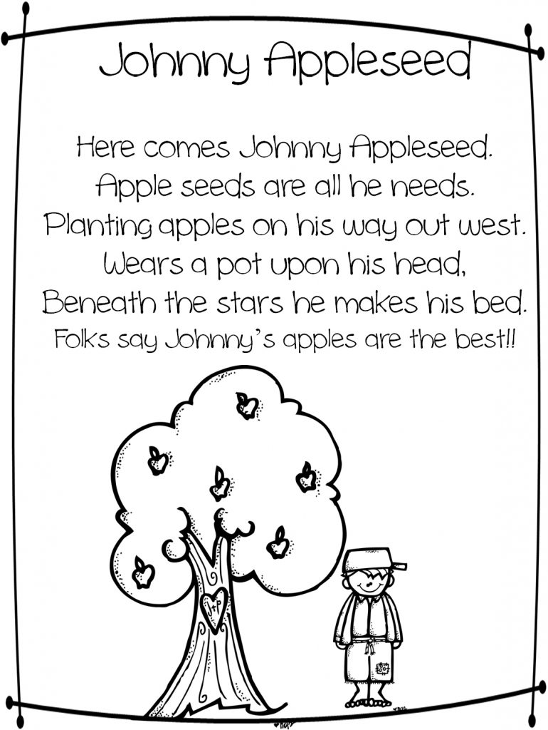 Johnny Appleseed imprimable gratuit
