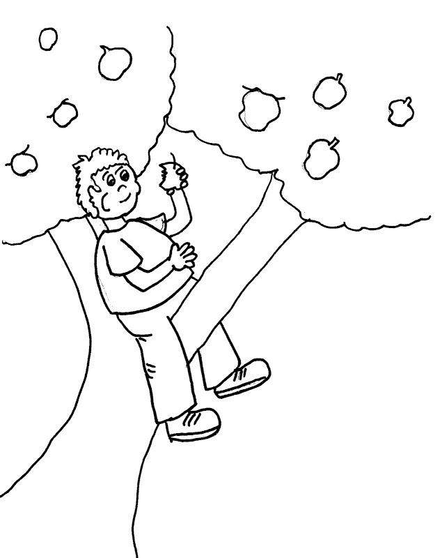 Coloriage Johnny Appleseed gratuit