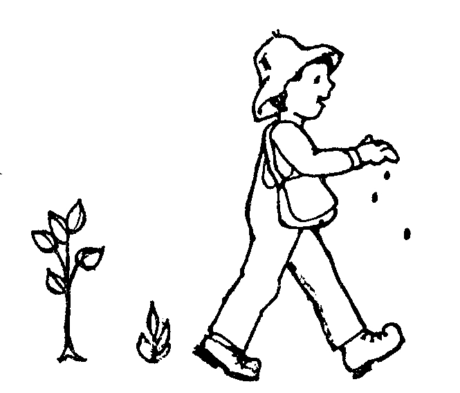 Coloriage de Johnny Appleseed Seeds