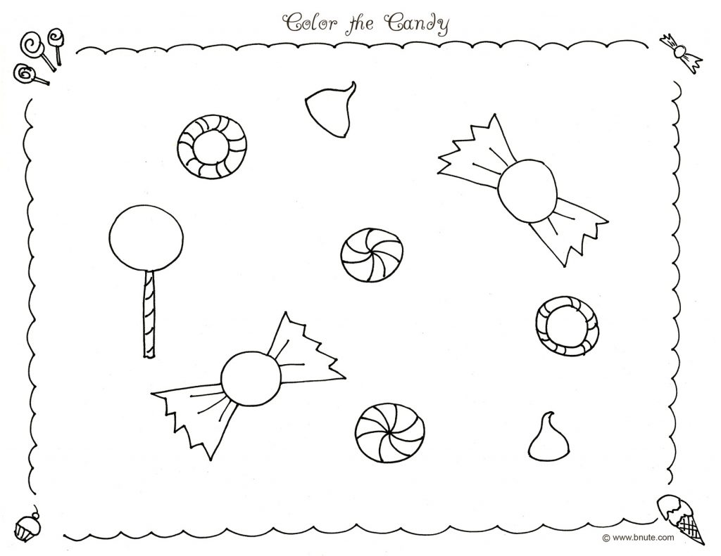 Coloriage Candyland à imprimer