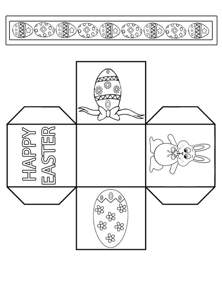 Modèle de boîte d'activités de Pâques en papier