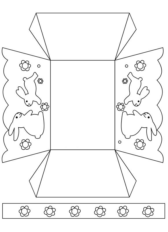 Modèle de boîte de Pâques imprimable coupé et couleur