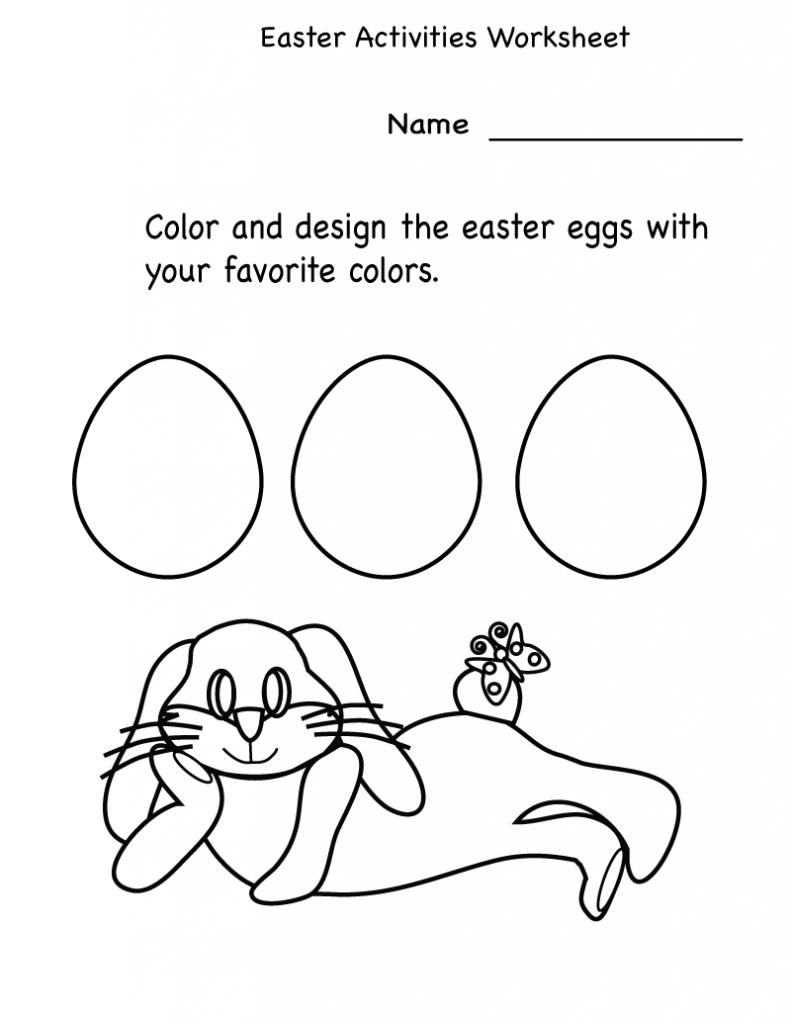 Activité de couleur et de conception des œufs de Pâques