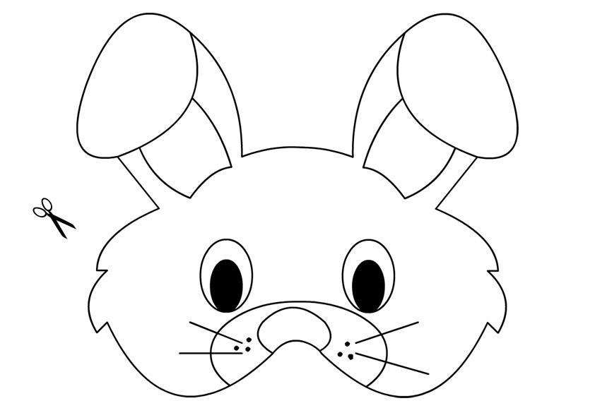 Activités de Pâques - Masque de lapin