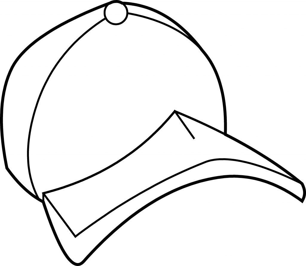 Coloriage chapeau de baseball