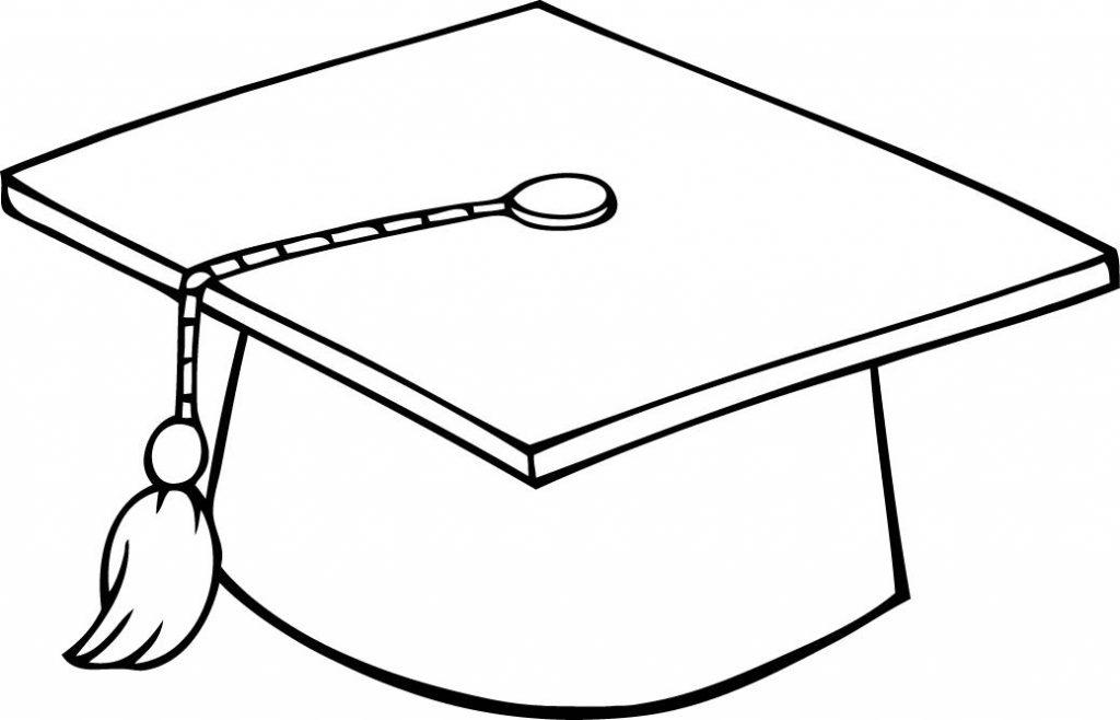 Coloriage chapeau de graduation