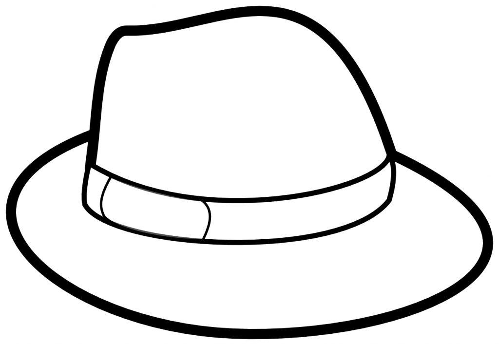 Chapeau de l'homme à colorier