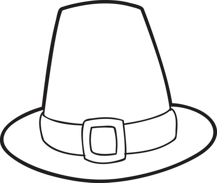Coloriage chapeau de pèlerin