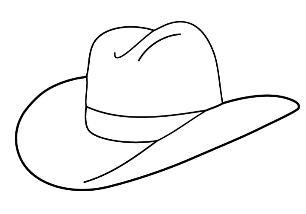 Chapeau occidental à colorier