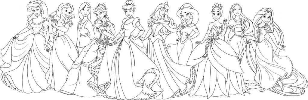 Coloriage Princesse Disney pour adultes