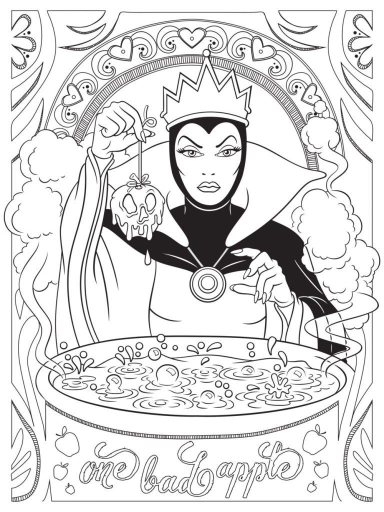 Disney Villain Coloring Pages pour adultes