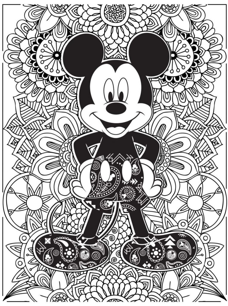 Coloriage Mickey Mouse Disney pour adultes