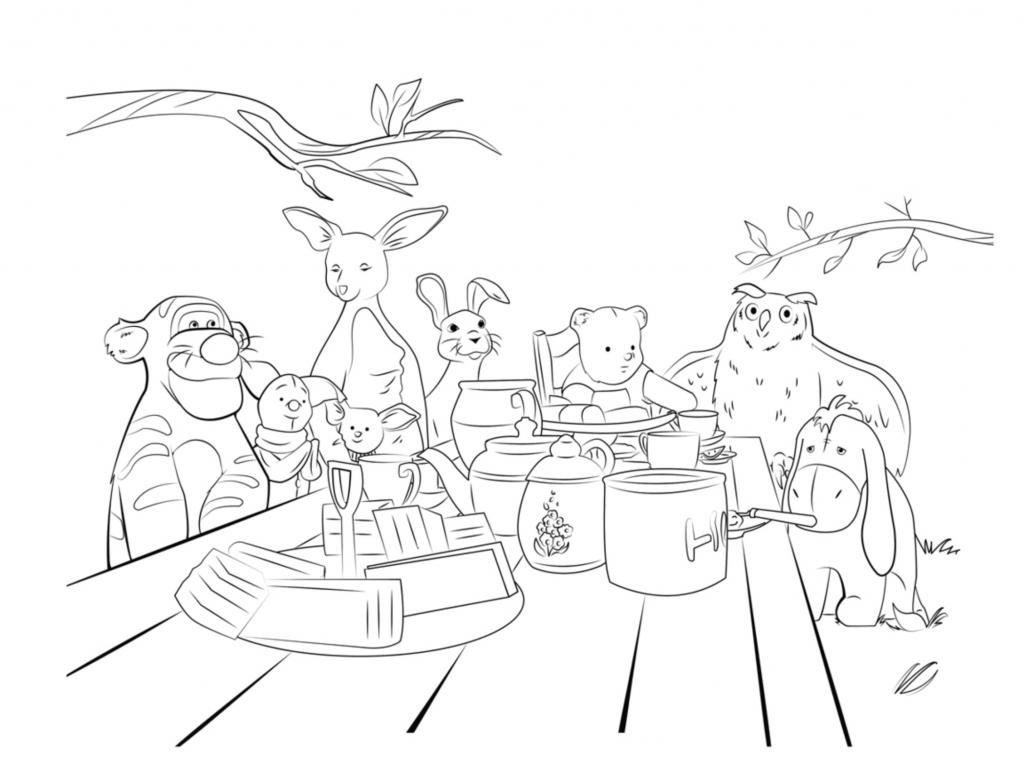 Coloriages Pooh Disney pour adultes
