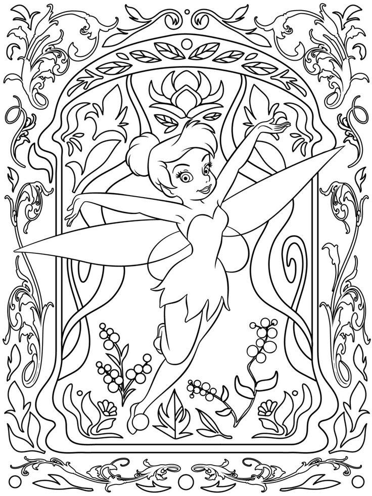 Coloriage fée Clochette Disney pour adultes