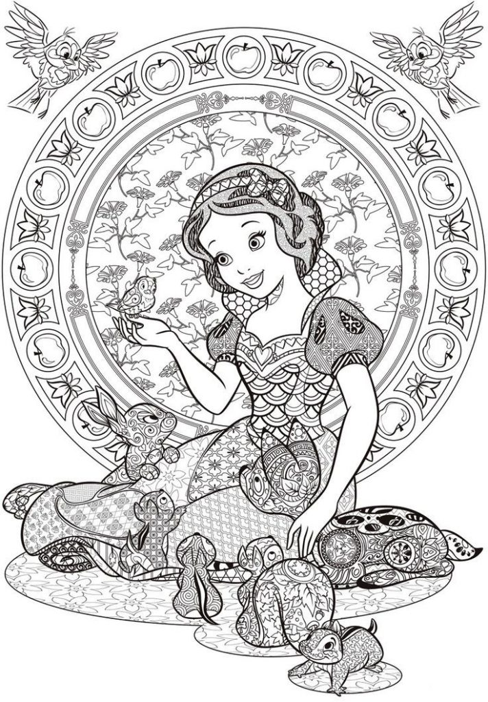 Coloriage Disney Blanche Neige pour adultes