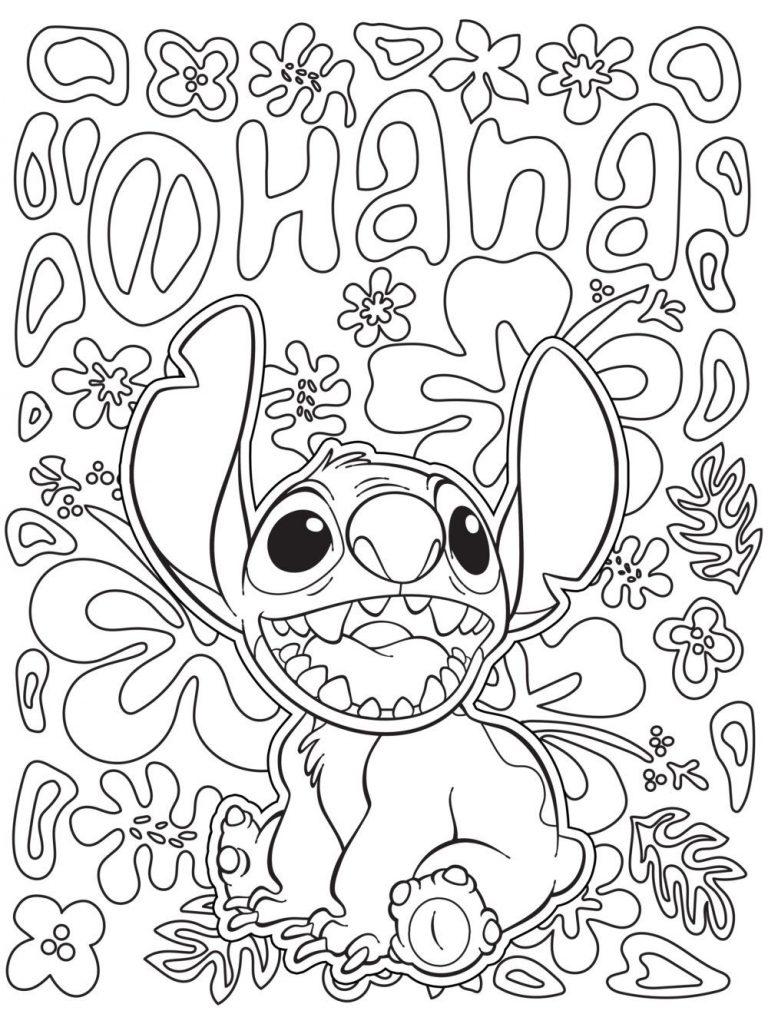Coloriage Stitch Disney pour adultes