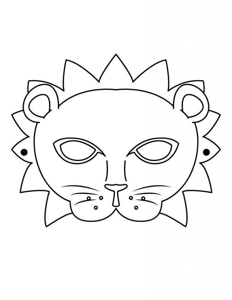 Feuilles de travail sur les masques à découper Mardi Gras