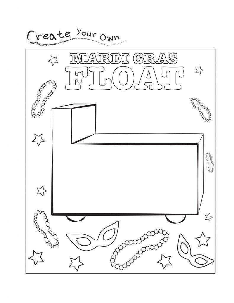 Feuille de travail Mardi Gras Float