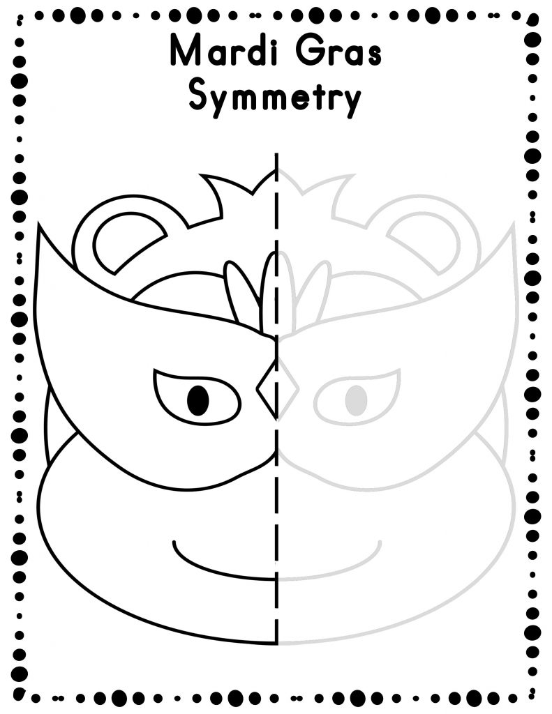 Feuilles de travail sur la symétrie de Mardi Gras