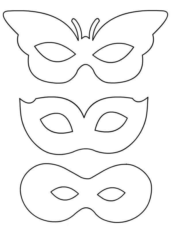 Feuilles de travail de décoration de masque de mardi gras