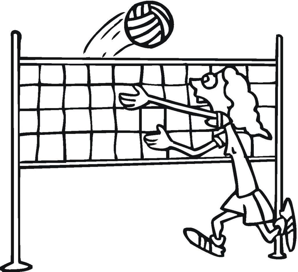 Coloriage de volleyball pour les enfants