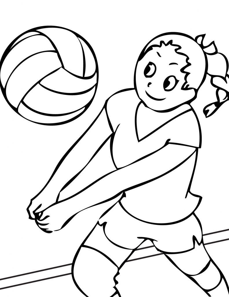 Coloriage de volleyball