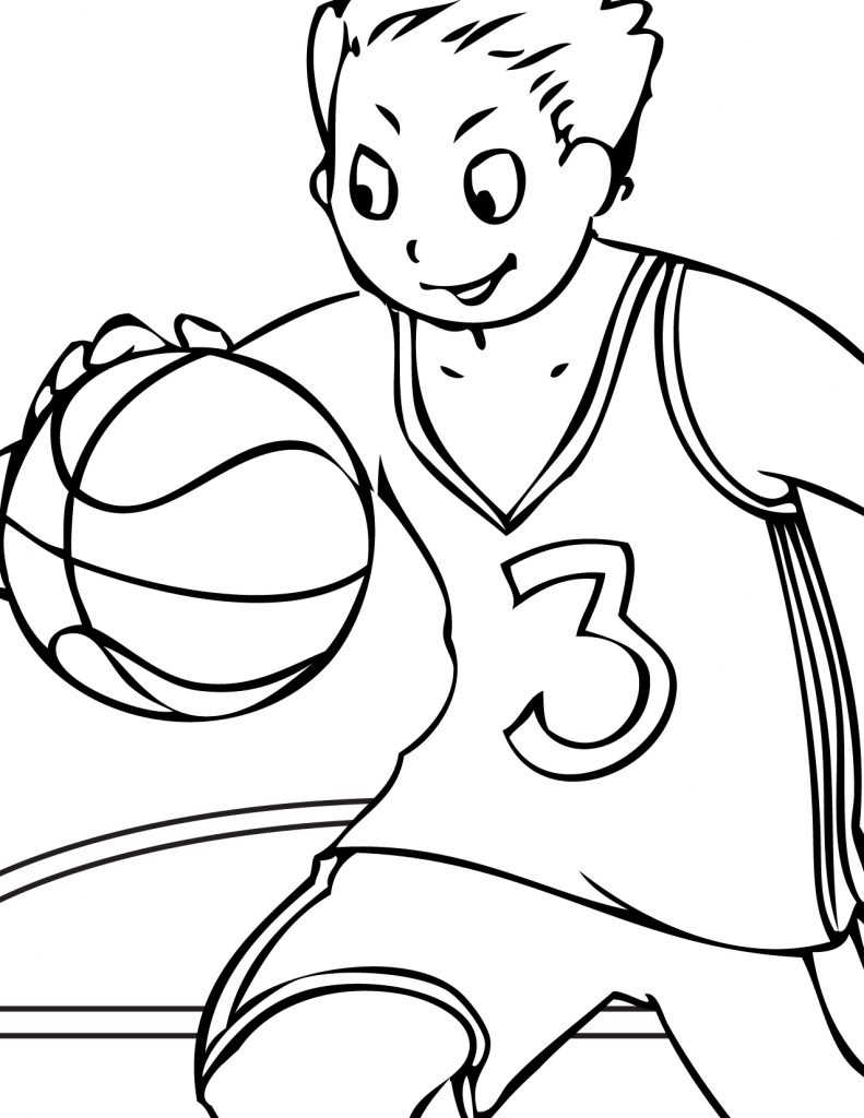 Coloriage de volleyball gratuit