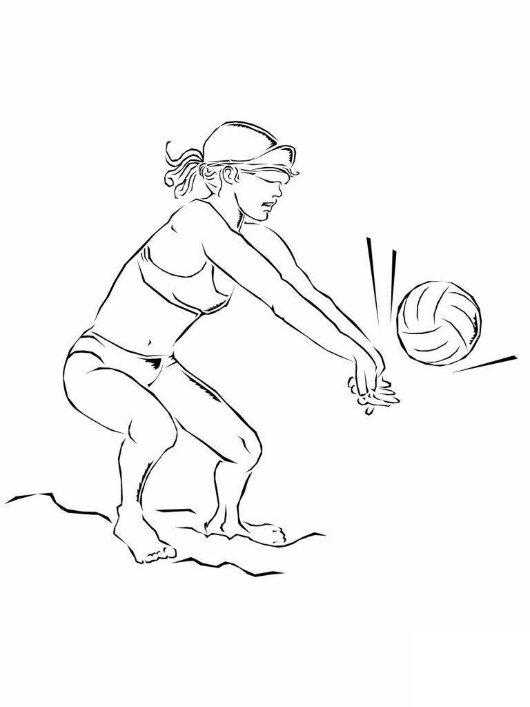 Coloriage de volleyball à imprimer