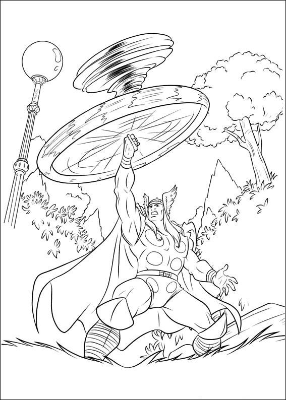 Coloriage Thor à imprimer
