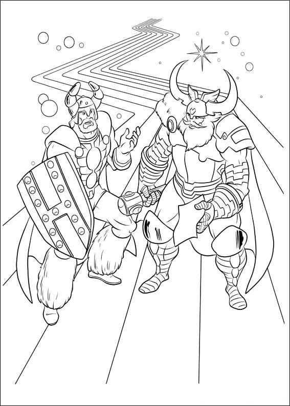 Coloriage Thor pour les enfants