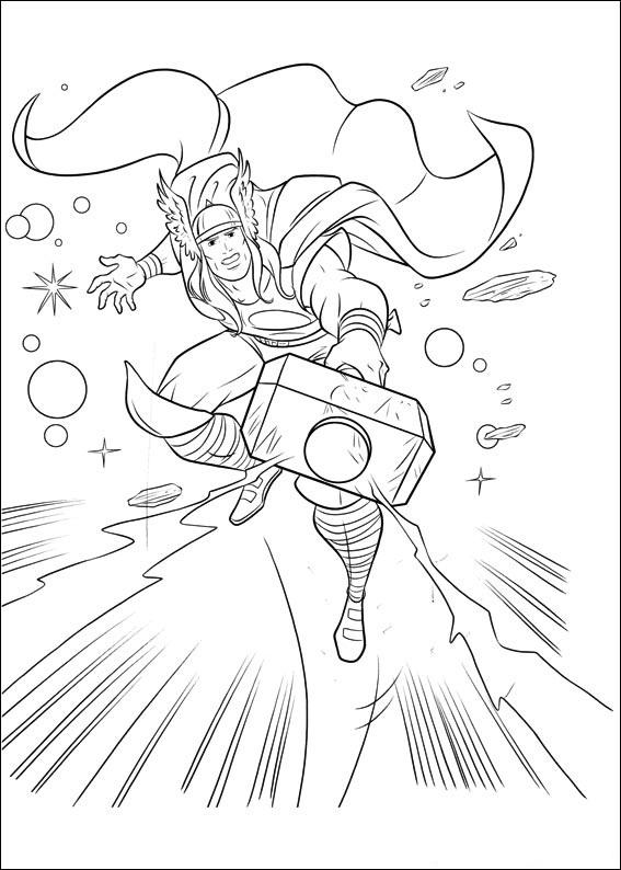 Coloriage de Thor