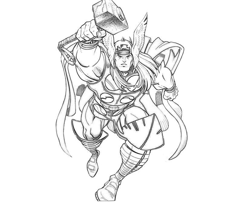 Coloriage Thor gratuit